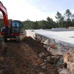terrassement enrochement mur en pierre aix pelleteuse