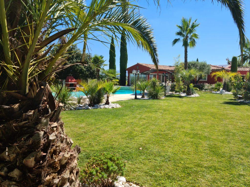 aménagement jardin palmiers piscine manosque