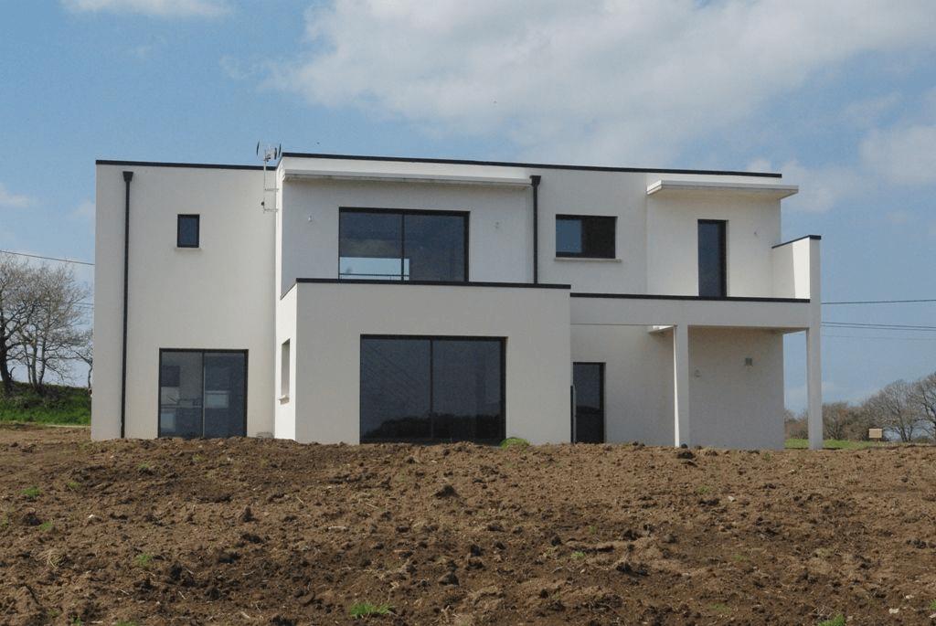 maison contemporaine création de jardin