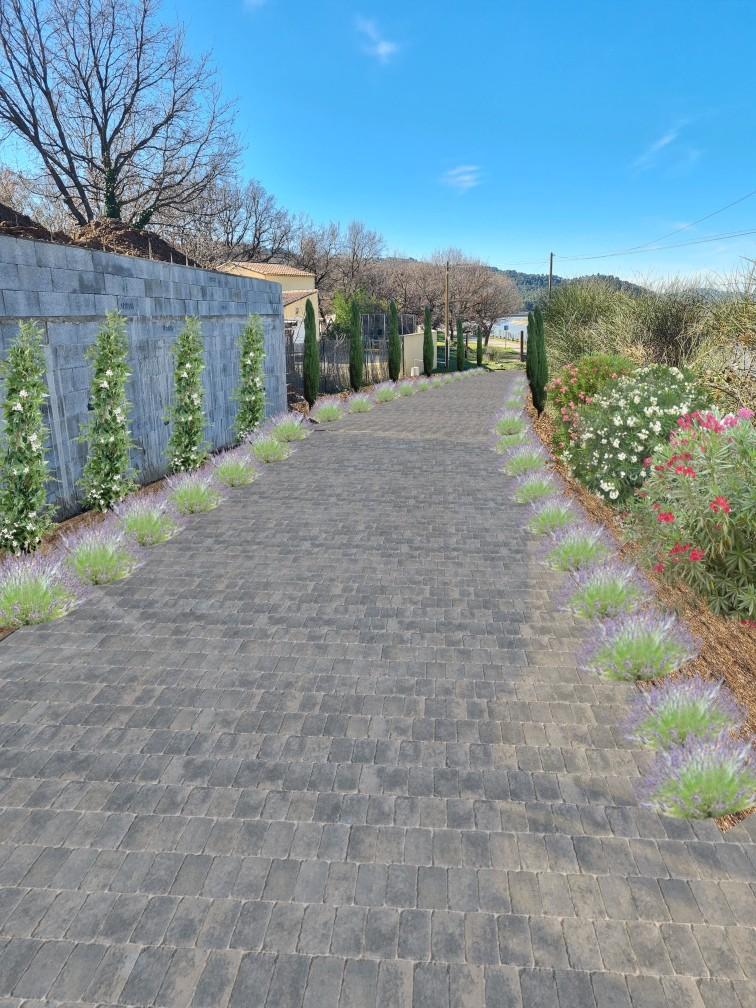 création jardin aménagement logiciel 3D allée
