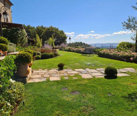 jardin pelouse allée dalles manosque